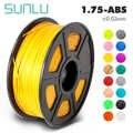 Filamento da impressão do abs 1.75mm 3d do filamento da impressora de sunlu 3d para impressoras 3d e canetas 3d baixa precisão dimensional do odor +/-0.02mm