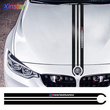 1PCS Carbon Fiber Car Hood Sticker Body Decal Styling For BMW M3 M5 M6 E46 E90 E60 E70 F30 F10 F15 F16 Auto Accessories Vinyl image