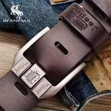 JIFANPAUL мужской ремень из натуральной кожи люксовый бренд высокое качество сплав пряжка бизнес Ретро Молодежный с джинсами