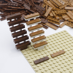 Image 4 - City Accessories Building Blocks 1x4 Flat Tile Floor Board Wall Wood Bricks House Farm Creator parts bulk military building Toys
