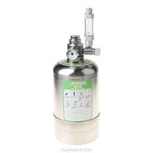 Akwarium DIY układ generatora CO2 butelka ze stali nierdzewnej narzędzia z manometrem automatyczny zawór bezpieczeństwa D24 Dropship tanie tanio CN (pochodzenie) NONE Hydraulika 910547430