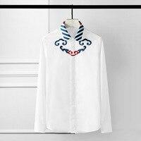 Minglu Mens Shirts Luxury Chinese Style Embroidery Long Sleeve Mens Dress Shirts Plus Size 4xl Fashion Party Wedding Shirts Man