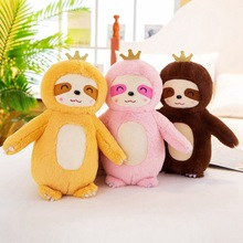 Hot 25cm New Soft Simulation Sloth Plush Toy Soft Stuffed Cartoon Animal Doll Kawaii Doll Baby Children Lovers Birthday Gifts 25cm kawaii penguin with bag plush toy doll soft stuffed penguin cartoon animal toy cute birthday gift for children baby kid