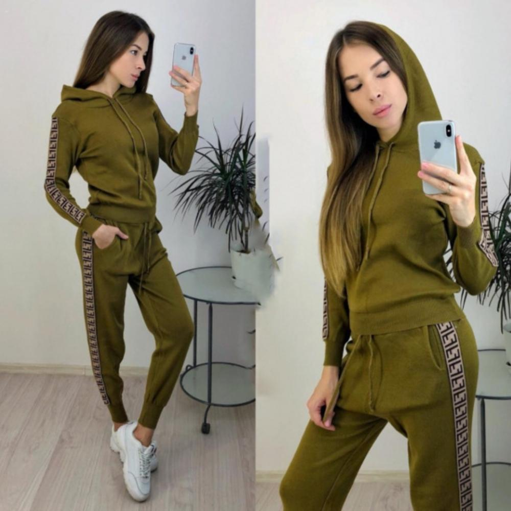 Spring Autumn New Women's Hooded Sports Casual Suit 2 Piece Sets Elastic Waist Slim Trousers Sports Suit Women
