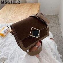 Girl Bag Shoulder-Bag Women Flap Hasp MSGHER WB3001 Frosted Joker Practical Temperament