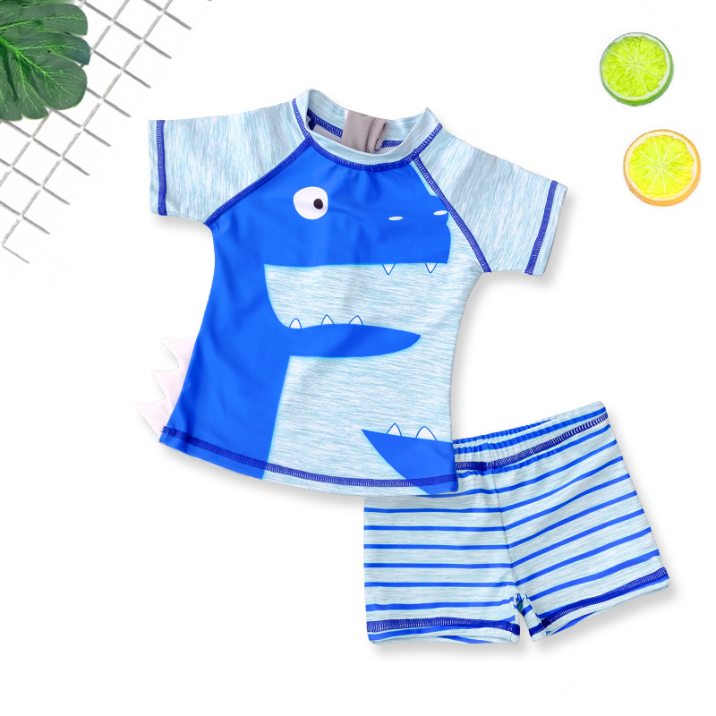 Children Boy Bathing Suit Students Split Type Cute Cartoon Swimming Trunks Male Baby Small CHILDREN'S Fashion BOY'S Tour Bathing