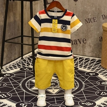 2020 new Baby Boys clothes set cotton short sleeve T-shirt Top+Shorts pant 2PCS 3-7T kids Clothing suit for boy children summer 2018 summer children clothing baby boy fashion cotton sleeveless star print top denim shorts baby boys clothing suit 2pcs s2