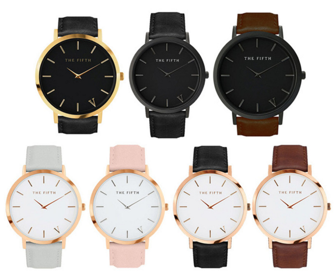 Foreign Trade Hot Selling The Fifth Watch Fashion Simple Couple Watch Variety Color Fashion Collocation