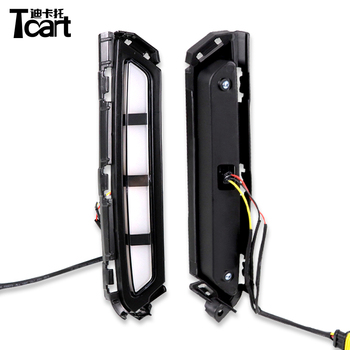 Tcart DRL for Hyundai Elantra 2019 2020 LED Daytime Running Lights Daylight fog lamp with with Yellow Turn signal lamps