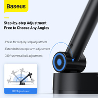 Baseus Car Phone Holder for Mobile Phone Holder Stand for iPhone Car Air Vent Mount Cell Phone Support in Car Phone Stand