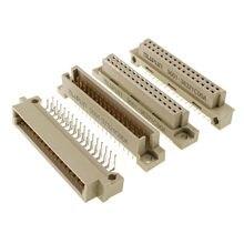 5 pces din 41612 conector 2 linhas 32 pinos tomada encabeçamento macho fêmea receptáculo através do furo 2x16 posição passo 2.54x2.54mm
