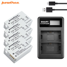 цена на Powtree For Canon NB-10L NB 10L Battery +USB LCD Dual Charger  for PowerShot G15 G16 SX40 SX60 CB-2LCE Rechargeable battery