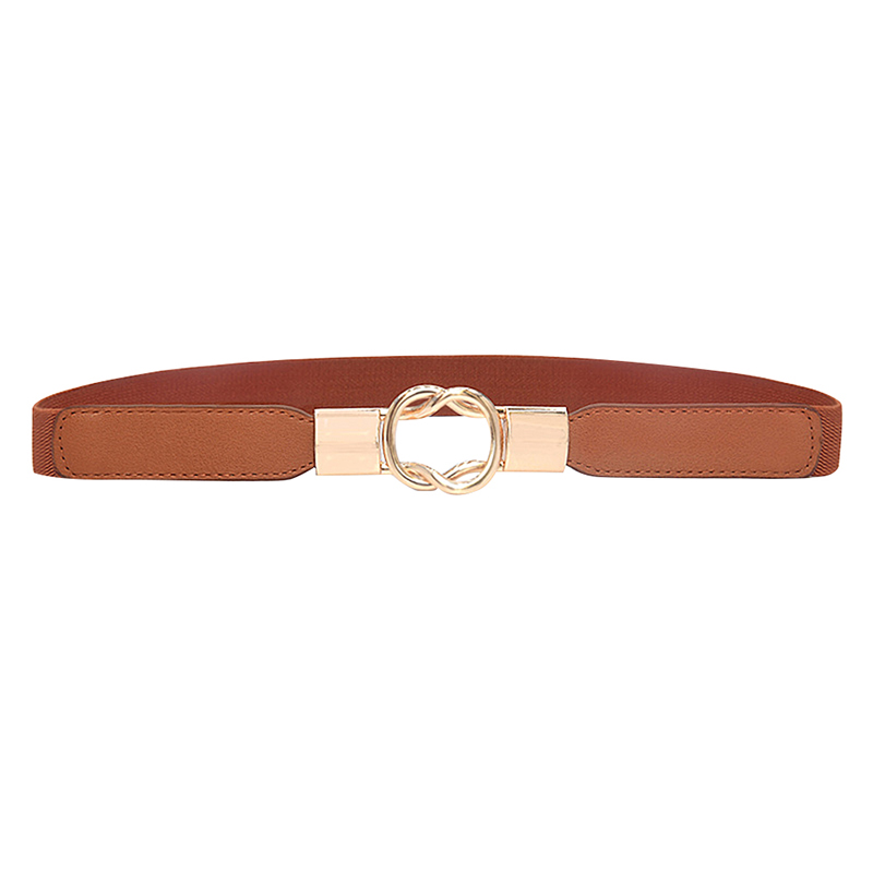 Women Belt Cummerbund High-elastic Retro Casual Concise All-match PU Leather Thick Fashion Belt For Dress Cummerbund