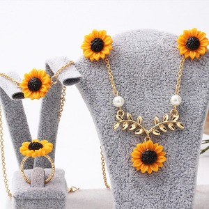 5 PCS Sunflower Jewelry Set Su