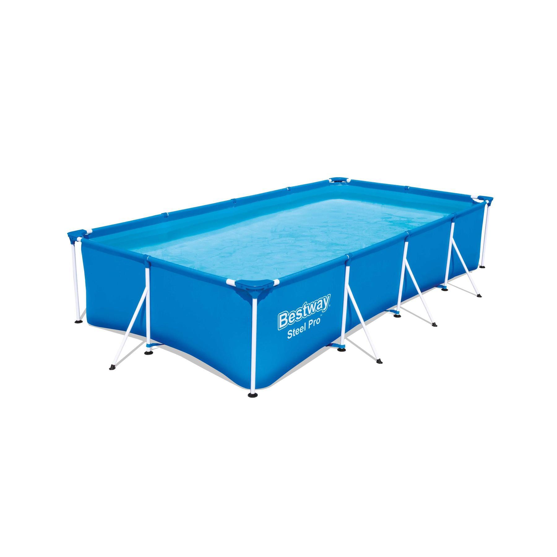Scaffold Rectangular Pool 400 х211х81 Cm, 5700 L, Bestway Family Splash, Item No. 56405