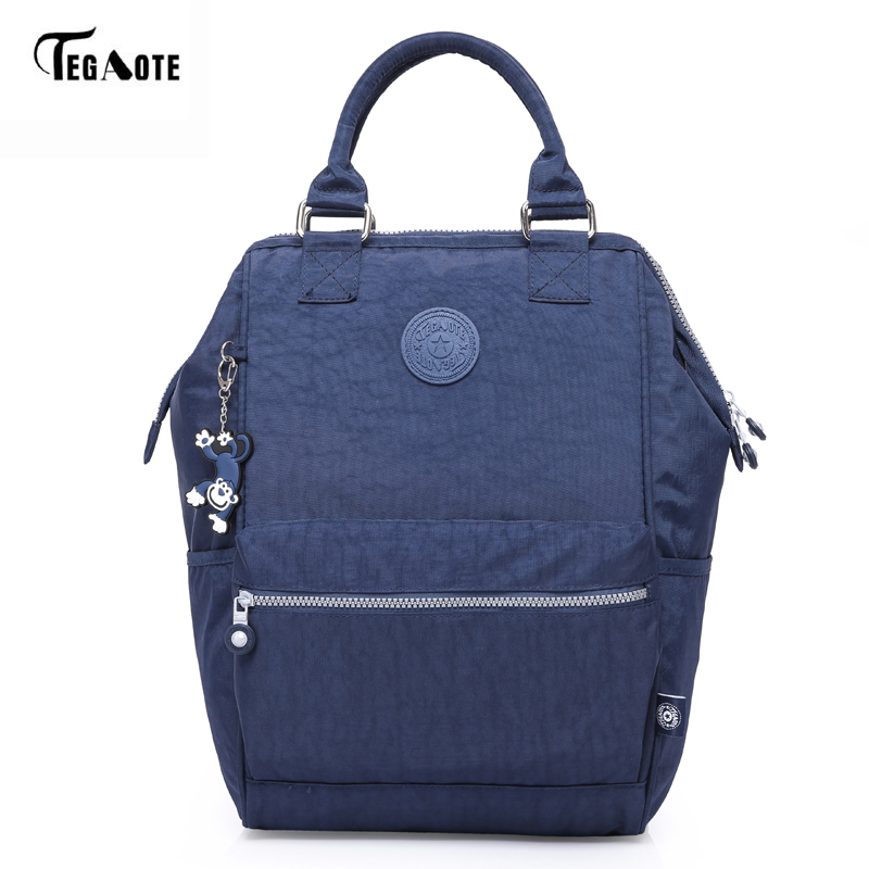 TEGAOTE Nylon Backpack Students School Bag For Teenage Girls Boys Backpacks Street Fashion Rucksack Laptop Bagpack Female