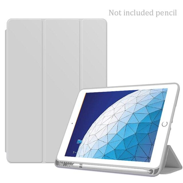 Funda de silicona suave para iPad mini 5 funda con soporte inteligente Auto Wake / Sleep con portalápices 2019 7,9 pulgadas A2124 A2125 A2126 A2133
