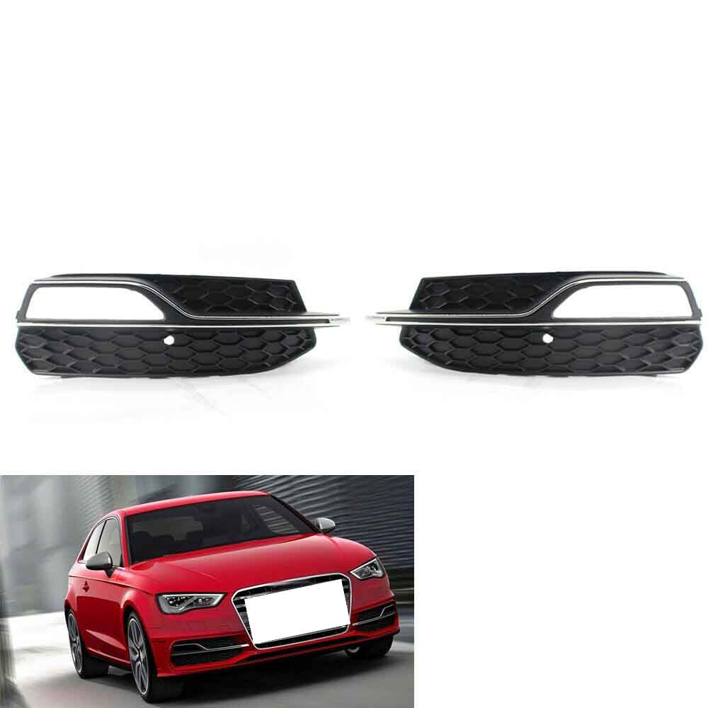 1 Pair Left + Right Lower Bumper Honeycomb Fog Light <font><b>Grill</b></font> Grille Trim For <font><b>AUDI</b></font> A3 S line <font><b>S3</b></font> 13-16 8V3807682G image