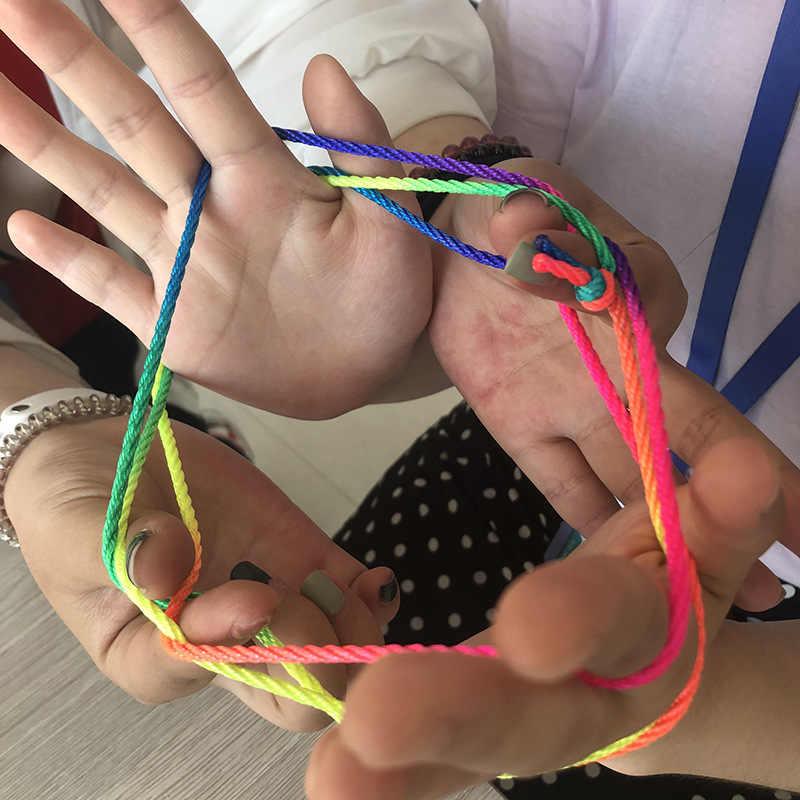 Stringz Arcobaleno Corda Giocattoli Per bambini Montessori Ztringz Dito Corda Gioco Filo Giocattolo Di Puzzle Crea Gioco Da Tavolo Gioco di Squadra di Interazione Giocattoli
