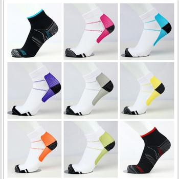 Men Woman Solid Sport Socks Unisex Foot Compression Sock Anti-Fatigue Fitness Cycling Running Ankle 5 Pairs/ lot
