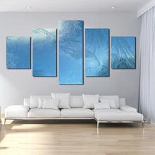 Красивый синий зимний лед 5 шт нерегулярная бескаркасная картина