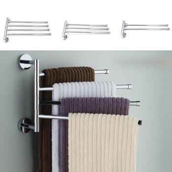 Wieszak na ręczniki wieszak na ręczniki wieszak na ręczniki wieszak na ręcznik łazienkowy ruchome wieszaki na ręczniki produkty łazienkowe tanie i dobre opinie Typ ścienny Swivel Towel Rack