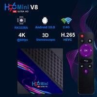 H96 Mini V8 RK3228A TV Box Für TK TV Version Android 10,0 HD 4K VP9 Video Dekodierung Set Top box 2,4G WIFI Widewine Level1 BOX