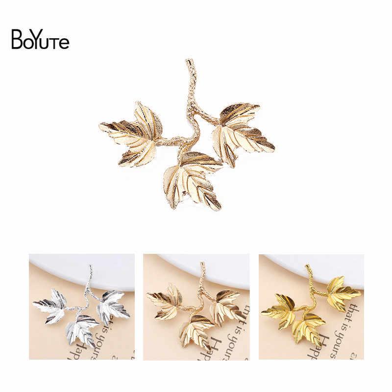 Boyute (20 peças/lote) liga de metal 40*34mm maple leaf materiais feitos à mão do vintage diy jóias acessórios atacado