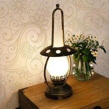 Retro kerosene table lamp Glass Lampshade NightStand Lamp Bedroom Kitchen Livingroom Study room Loft home decor Besides Lamp