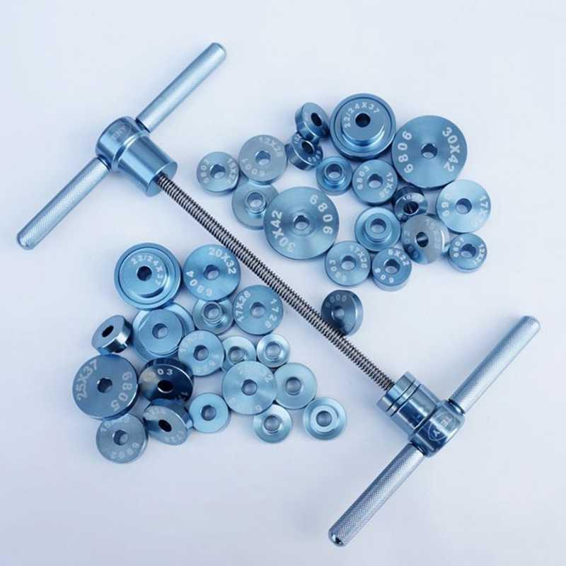 Conjunto da imprensa do rolamento do ciclo para as rodas/rolamento do cubo de instalação do quadro macio da cauda da bicicleta que gira a ferramenta do conjunto do cubo do rolamento do ponto