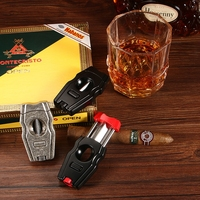 CIGARLOONG Portable Stainless Steel Metal Cigar Cutter Luxury Gadgets Six Color For Choose V Cigar Cutter CL JV001