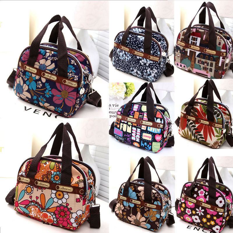 HT Women Nylon Waterproof Messenger Bags Crossbody Casual Handbags Shoulder Bag Cosmetic Bags Case