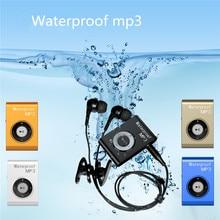 Mini FM Radio 8GB IPX8 Waterproof MP3 Music Player Swimming Diving Earphone Headset Sport Stereo Bass Swim MP3 with Clip