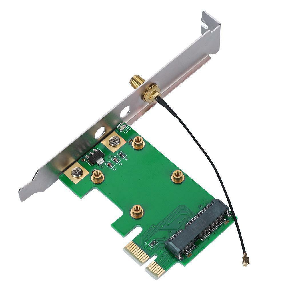 Convertor Antenna MiniPCI-E To PCI-E Network Accessories Replacement Laptop Professional Desktop PC Wireless WiFi Adapter Card