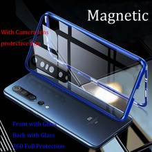 For Xiaomi Mi 10 Pro Magnetic Case Mi10 360 Front+Back double-sided 9H Tempered Glass Case for Xiaomi 10 Pro Metal Bumper Case