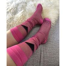 Новые летние модные носки до щиколотки с разноцветными буквами