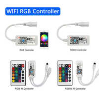 Controlador inteligente LED inalámbrico WiFi para tiras de luz LED 2835 5050 aplicación gratuita con sistema Android e IOS teléfono móvil