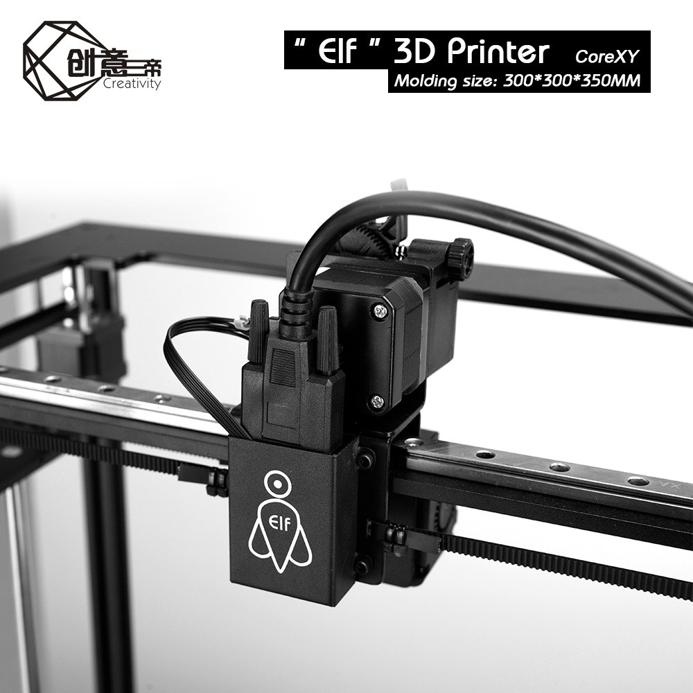 Image 2 - CoreXY Elf Dual Z Axis 3D Printer High Precision Aluminum Profile Frame Large Area FDM Low noise with TMC2208 3dTOUCH3D Printers   -
