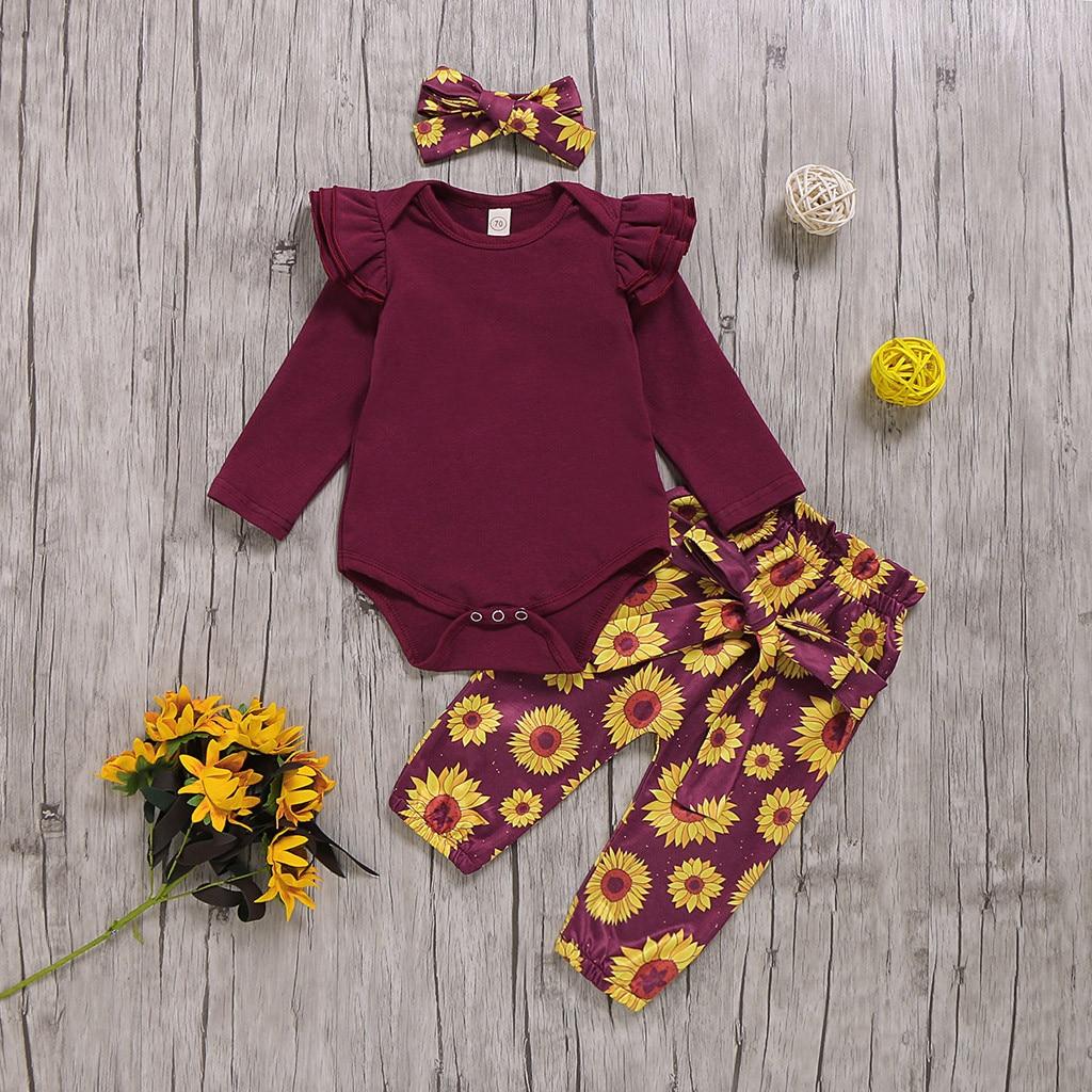 Baby Girl Towel S Cotton Girl Toddler Long Sleeve Ruffle Shirt Top Sunflower
