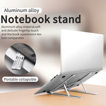 Soporte para portátil de aleación de aluminio, soporte plegable ajustable para portátil, soporte para ordenador portátil, soporte de refrigeración de elevación antideslizante