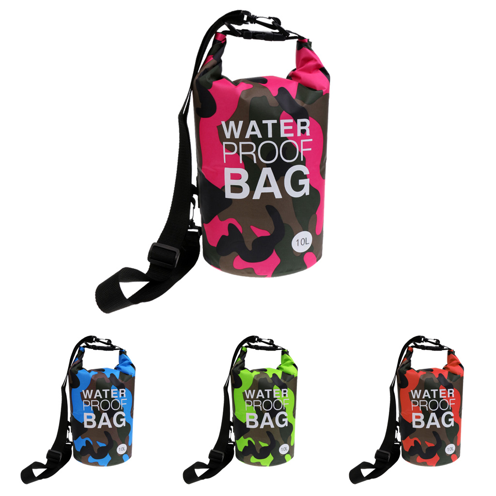 10L Waterproof Dry Bag Sack For Floating Boating Kayaking Camping Camouflage Waterproof Dry Bag Sack For Boating Fishing Rafting