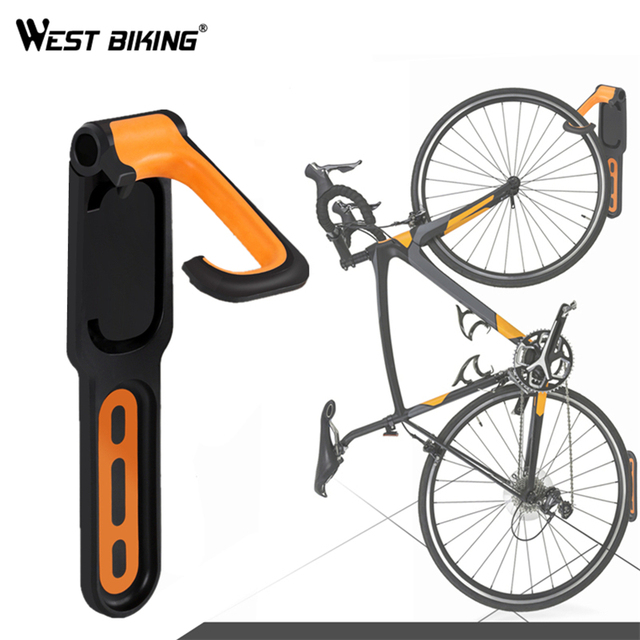 WEST BIKING Bike Wall Stand Holder Mount Max 18kg Capacity Garage Bicycle Storage Wall Rack Stands Hanger Hook Bike Tools