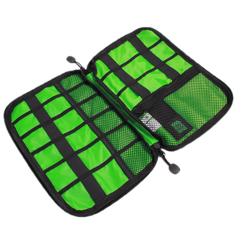 Outdoor Travel Kit Nylon Cable Holder Bag Electronic Accessories USB Drive Storage Case Camping Hiking Organizer Bag
