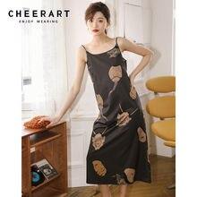 CHEERART Ukiyoe-robe longue à bretelles Spaghetti pour femmes, tenue d'été pour femmes