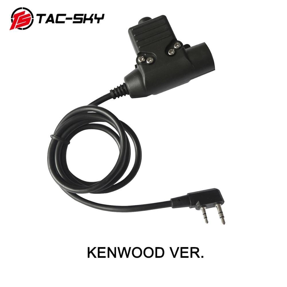 Купить с кэшбэком TAC-SKY military adapter KENWOOD U94 PTT + COMTAC III silicone earmuffs noise reduction pickup tactical headset CB