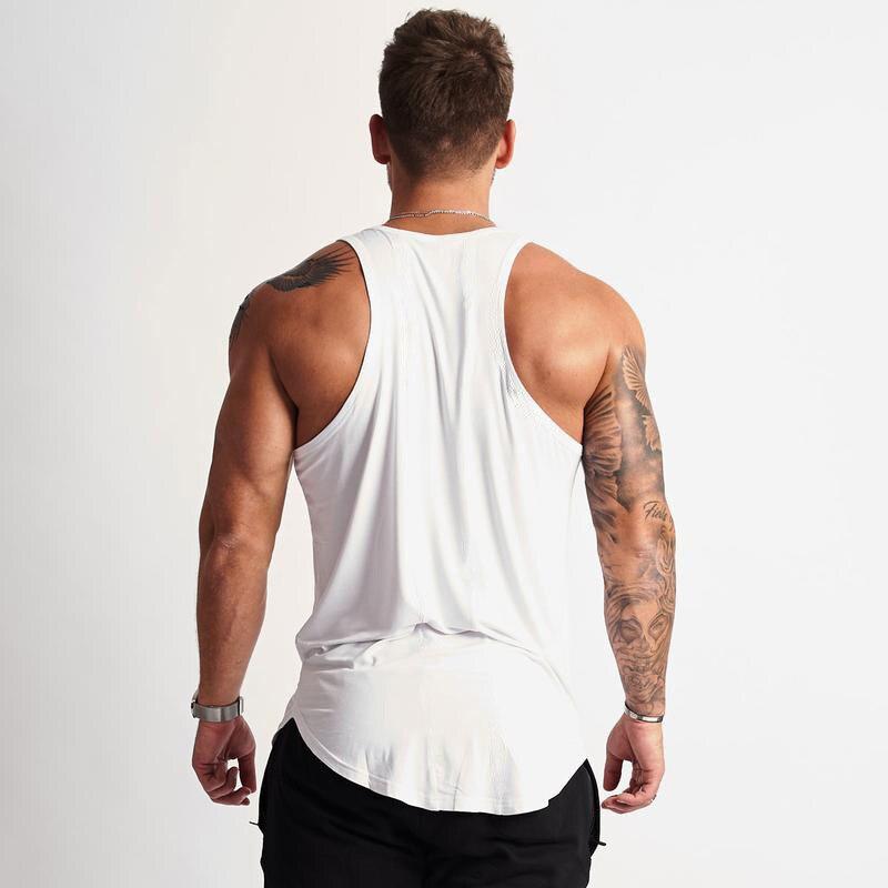 Men Tank Top T-Shirt Muscle Sleeveless Tee Bodybuild Sport Gym Running Vests New