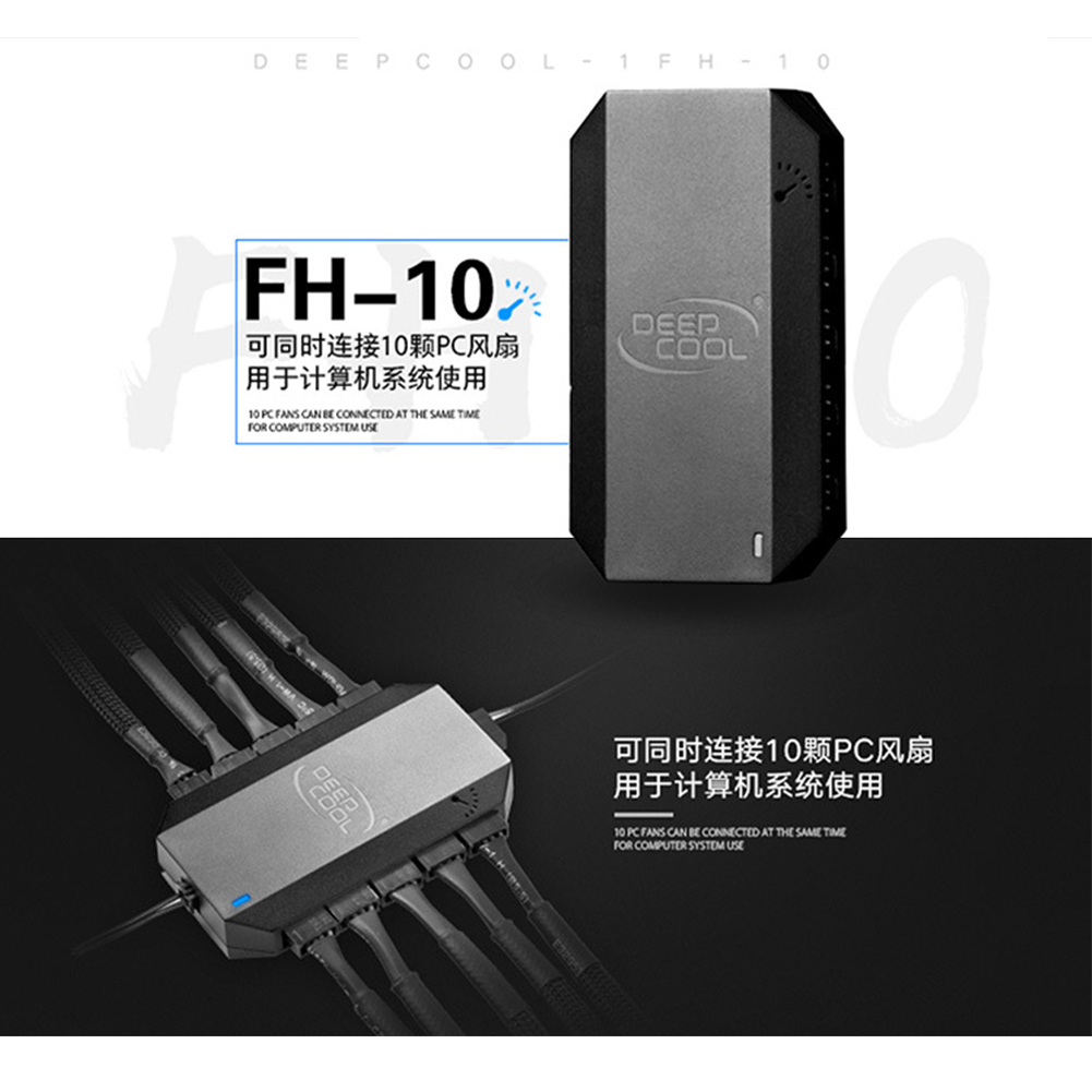 FH-10 Durable Black 3Pin <font><b>4Pin</b></font> SATA Power Supply Universal <font><b>PWM</b></font> Cooling Fan Hub Adapter Modular <font><b>Splitter</b></font> Computer Accessories image