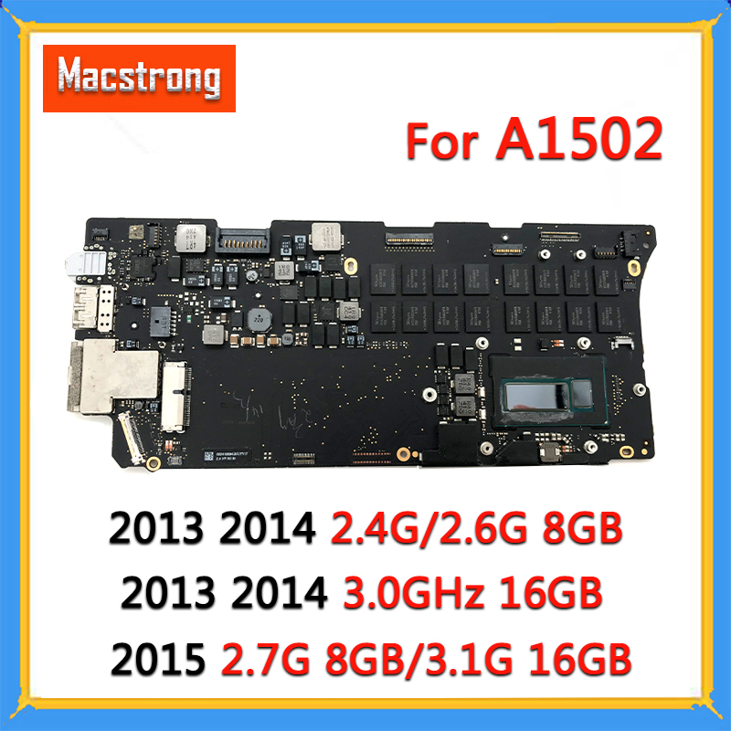 """Tested A1502 Motherboard i5 2.7G 8GB/3.1G 16GB for MacBook Pro Retina 13"""" A1502 Logic Board 820-3476-A 2013 2014 2015 820-4924-A(China)"""