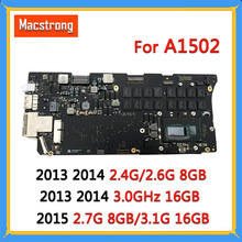"Getest A1502 Moederbord I5 2.7G 8 Gb/3.1G 16 Gb Voor Macbook Pro Retina 13 ""A1502 logic Board 820-3476-A 2013 2014 2015 820-4924-A(China)"