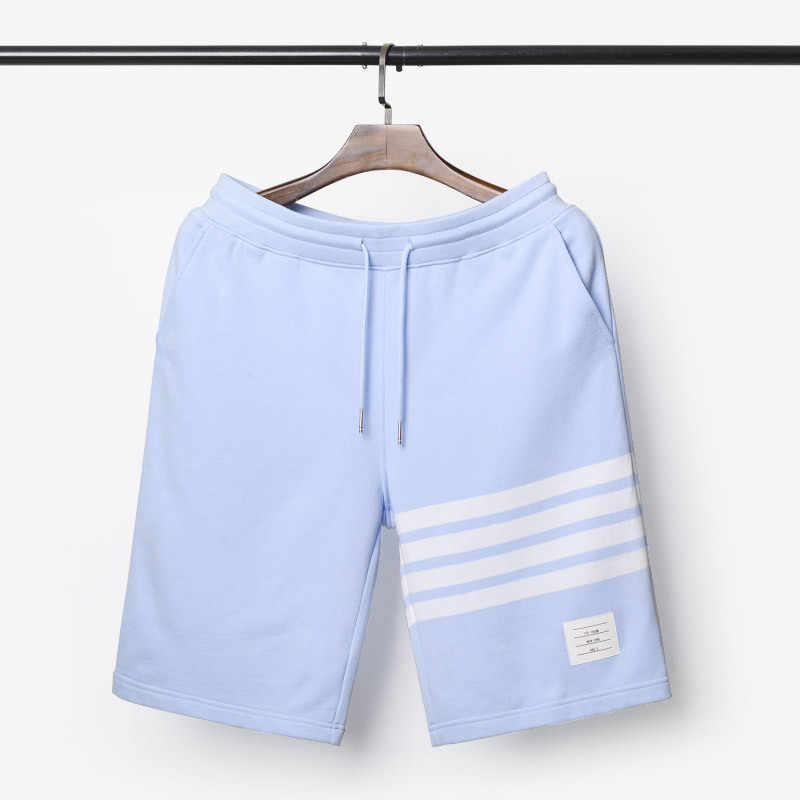 2020 Sky Blue Casual Shorts Mannen Vrouwen Geverfd Zomer Sport Shorts Mannelijke Mode Katoen Korte Broek Mannen